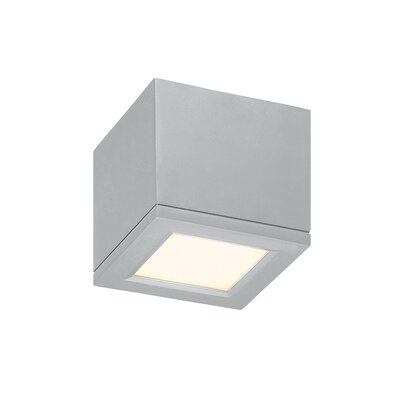 Myrtle Flush Mount Finish: Brushed Aluminum, Size: Small