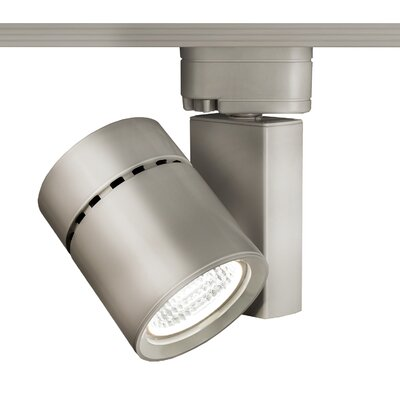 Exterminator II 1-Light 3500K Flood Beam Track Head Finish: Brushed Nickel