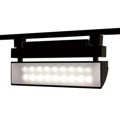 43W LED Wall Washer Track Head Finish: Black, Track Collection: Juno Series