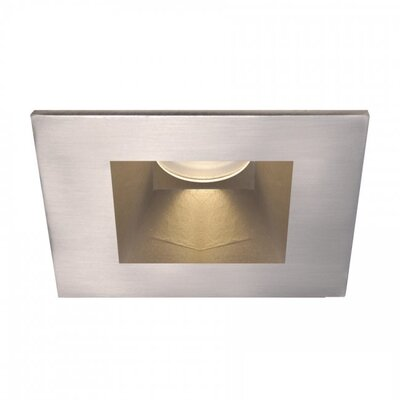 Tesla Open Square 3 LED Recessed Trim Finish: Brushed Nickel