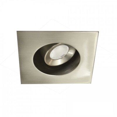 LEDme Mini Recessed Downlights Finish: Brushed Nickel, Bulb Color: Cool White