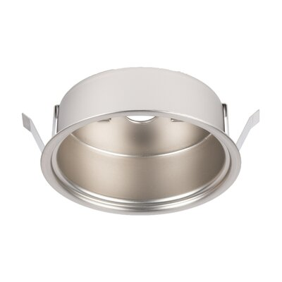 LEDme� Button Light Retrofit Recessed Housing Finish: Brushed Nickel