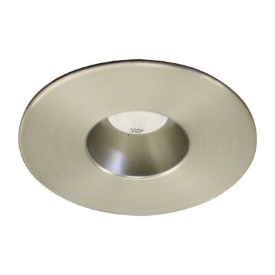 LEDme 2 Mini Recessed Downlight Finish: Brushed Nickel, Bulb Color: Warm White