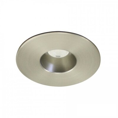 LEDme Mini Recessed Downlights Bulb Color: Cool White, Finish: Brushed Nickel