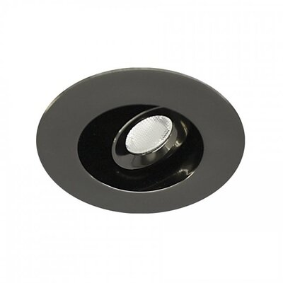 LEDme Mini Recessed Downlights Bulb Color: Warm White, Finish: Gun Metal
