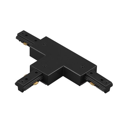 Single Circuit Track Lighting System T Power Connector for Halo Series Finish: Black