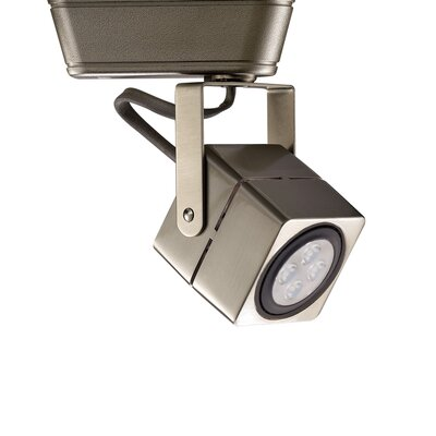 LED 1-Light Low Voltage Track Head Finish: Brushed Nickel, Track Collection: Juno Series