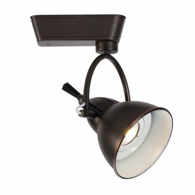 Halo Series 1-Light Cartier Track Luminaire Flood Lens Track Head Color Temperature: 4000K, Finish: Antique Bronze, Track Type: Juno Series