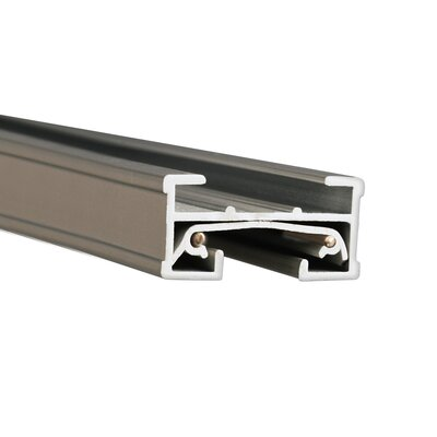 Juno J System Single Circuit Track Size: 8 Feet, Shade Color: Brushed Nickel
