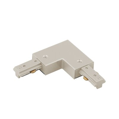 Wire Left L Connector Finish: Brushed Nickel, Track Type: Lightolier Series