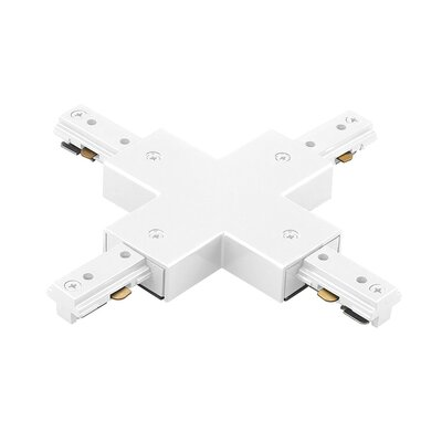 Single Circuit Track Lighting System X Connector for Juno Series Color: White