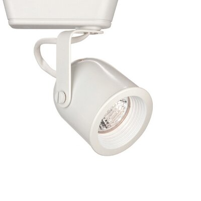 1-Light Round Back Low Voltage Track Head Track Type: Halo Series, Bulb Type: 75W MR16 Halogen Bulb, Finish: White