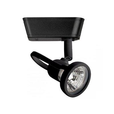 1-Light Loop Back Low Voltage Track Head Track Type: Halo Series, Bulb Type: 50W MR16 Halogen Bulb, Finish: Black