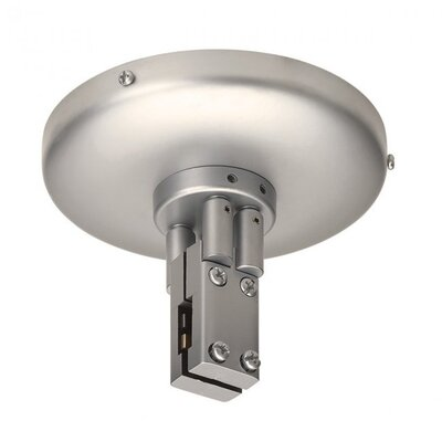 Duorail 2 Circuit Close to Ceiling Power Feed Finish: Brushed Nickel
