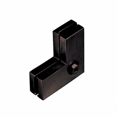 Low Voltage Ceiling to Wall Connector for Monorail Track Systems Finish: Bronze