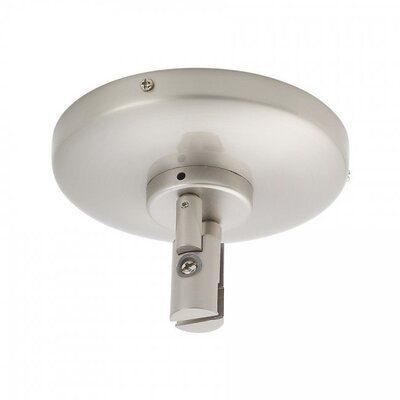 Low Voltage Ceiling Power Feed for Monorail Track Systems Finish: Brushed Nickel