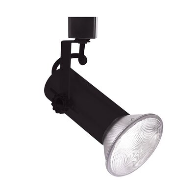 1-Light Series 188 Exposed Lamp Track Head Track Type: Lightolier Series, Finish: Black