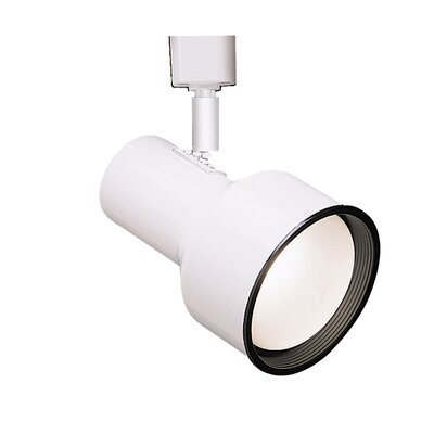 Line 1-Light Step Cylinder Baffle Luminaire Voltage Track Head Track Type: Juno Series, Finish: White