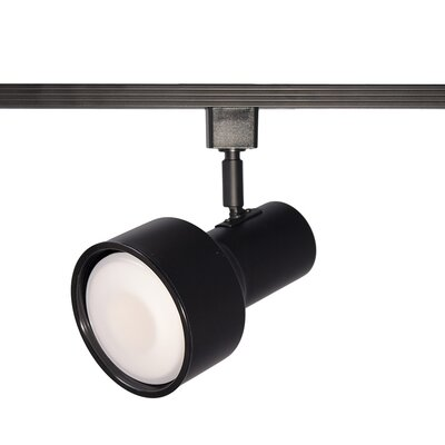 Line 1-Light Step Cylinder Baffle Luminaire Voltage Track Head Track Type: Halo Series, Finish: Black