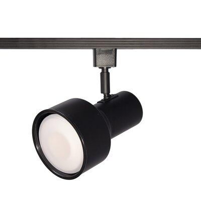 Line 1-Light Step Cylinder Baffle Luminaire Voltage Track Head Track Type: Juno Series, Finish: Black