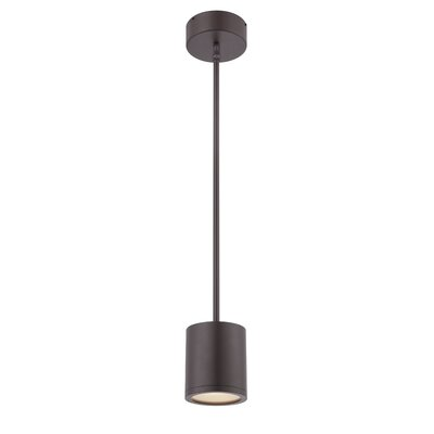 Tube 1-Light Mini Pendant Finish: Bronze