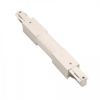 120V W Track Flexible Connector Finish: White