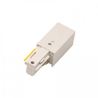 120V Right W Track Live End Connector Finish: White