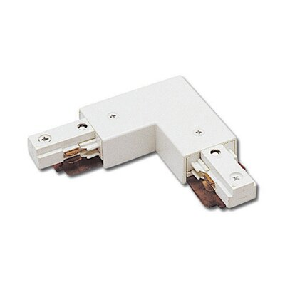 Two Circuit Straight Line Left L Track Connector for Juno Series Color: White
