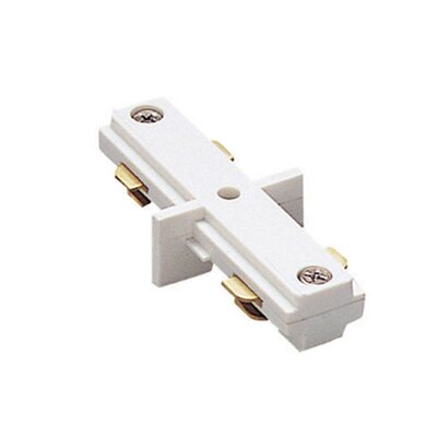 Two Circuit Lighting System Straight Line I Track Connector for Juno Series Color: White