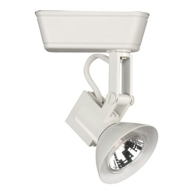 Art Deco 1-Light Low Voltage Track Head Track Type: Lightolier Series, Bulb Type: 75W MR16 Halogen Bulb, Finish: White