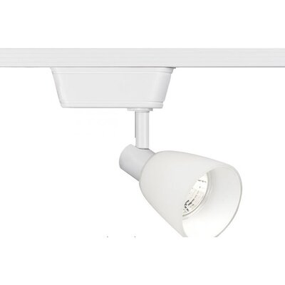1-Light Versatile Low Voltage Track Head Track Type: Juno Series, Bulb Type: 50W MR16 Halogen Bulb, Finish: White