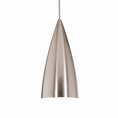 Industrial Bullet Quick Connect Foyer Pendant Finish: Brushed Nickel