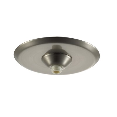 Quick Connect Mini Round Surface Mount Canopy in Brushed Nickel