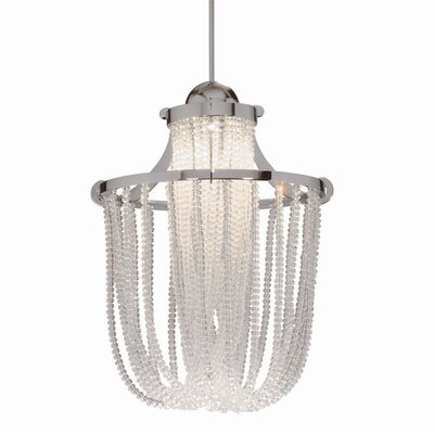 Crystal Cascade Quick Connect Foyer Pendant Finish: Brushed Nickel