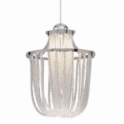 Crystal Cascade LEDme Quick Connect 1-Light Monopoint Pendant Finish: Chrome