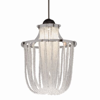 Crystal Cascade Quick Connect 1-Light Pendant Finish: Dark Bronze