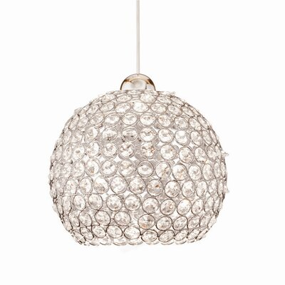 Crystal Roxy Quick 1-Light Crystal Mini Pendant Finish: Chrome
