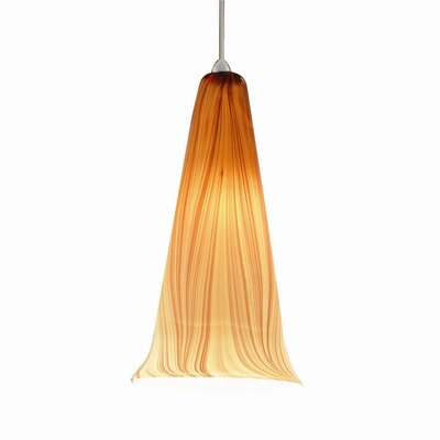 Seawell Quick Connect 1-Light Pendant Finish: Brushed Nickel with Amber Glass