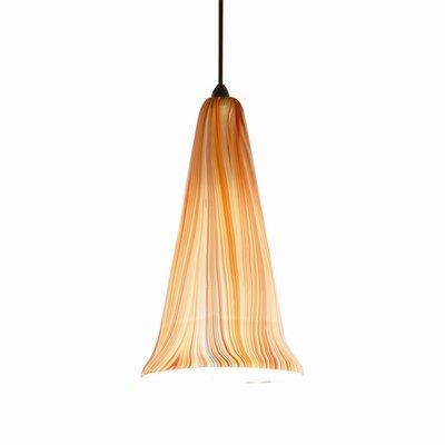 Zanzibar Quick Connect 1-Light Pendant Finish: Dark Bronze with Saffron Glass