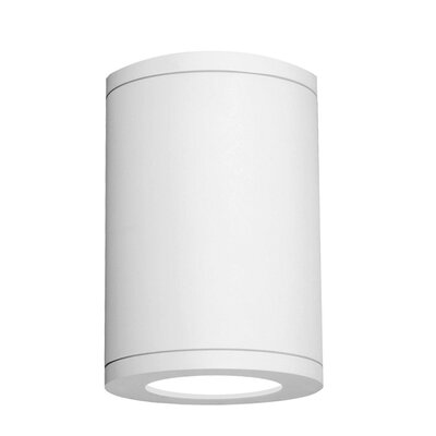 Tube 1-Light Architectural Ceiling Mount Lens Degree: Spot, Finish: White, Size: 11.81 H x 8 W