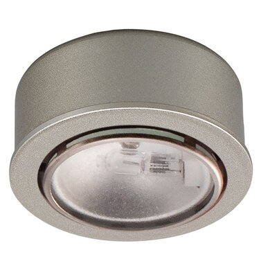 Halogen Under Cabinet Puck Light Finish: Brushed Nickel, Bulb Type: Xenon