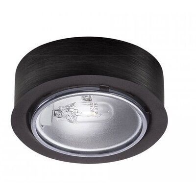 Halogen Under Cabinet Puck Light Finish: Black, Bulb Type: Xenon