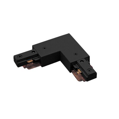 Two Circuit Straight Line Right L Track Connector for Juno Series Color: Black