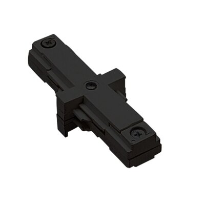 Two Circuit Straight Line I Track Connector with Dead End for Juno Series Color: Black