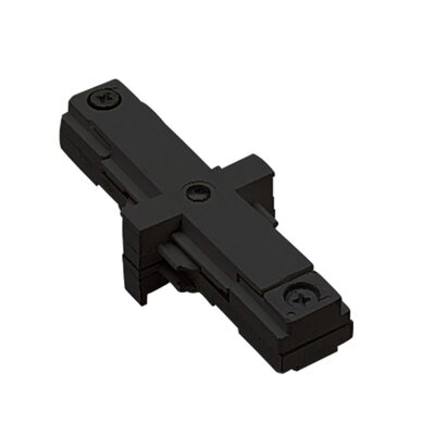 Two Circuit Lighting System Straight Line I Track Connector for Juno Series Color: Black