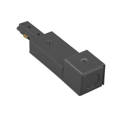 Single Circuit Track Lighting System Live End Connector for Juno Series Color: Black