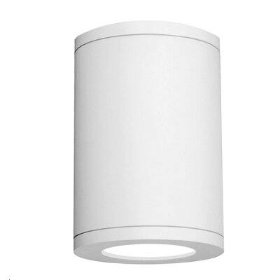 Tube 1-Light Architectural Ceiling Pier Mount Finish: White, Size: 11.81 H x 8 W, Lens Degree: Flood