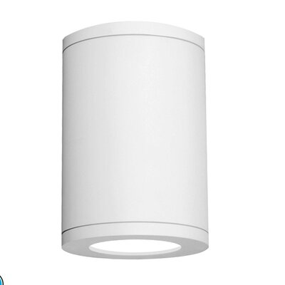 Tube Architectural 1-Light Flush Mount Finish: White, Size: 7.17 H x 5 W, Color Temperature: 2700K