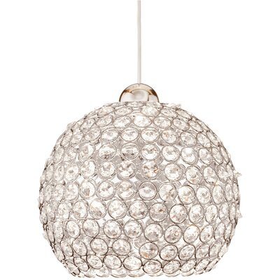 Crystal Roxy Quick Connect 1-Light Pendant Finish: Chrome