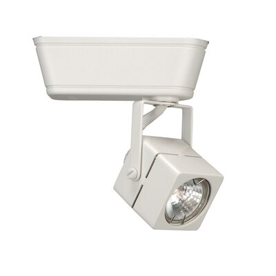 1-Light Low Voltage Square Track Head Track Type: Lightolier Series, Finish: White